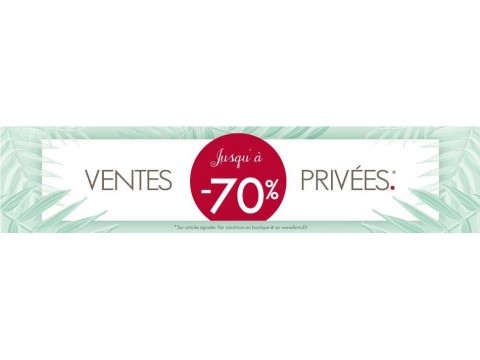 SALES PRIVATE  -70%, -60%, -50%, -40%, -30% and -20% ! The best bargains just before the sales !
